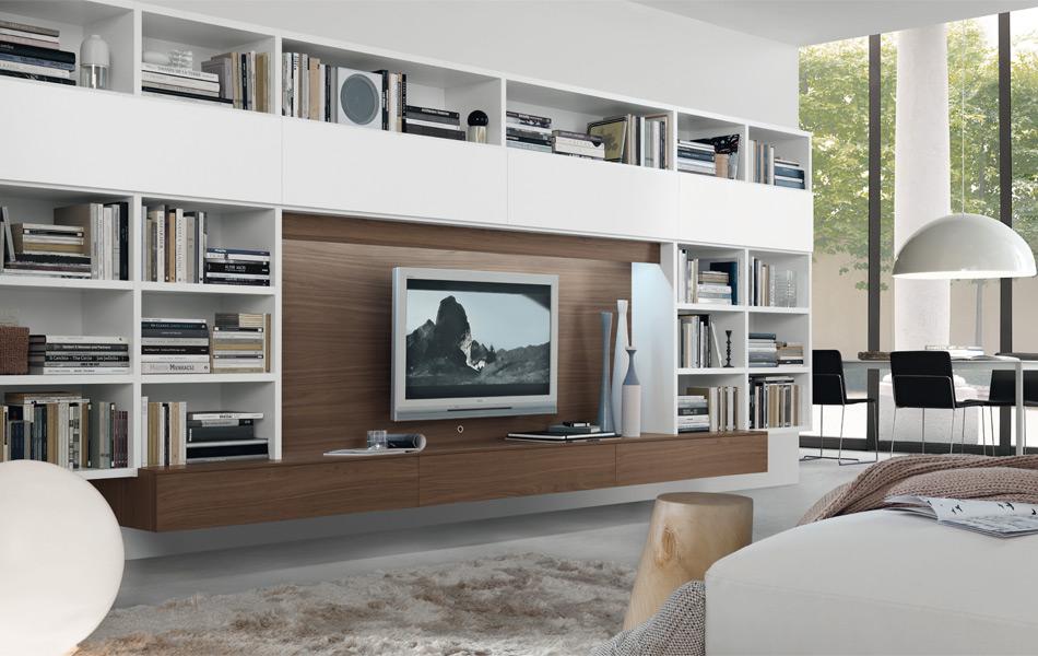 Arredamento living soggiorni librerie pareti attrezzate for Soggiorni pareti attrezzate